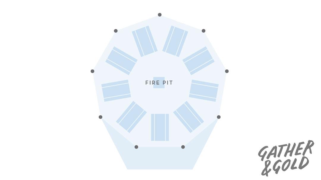 Single tipi layout