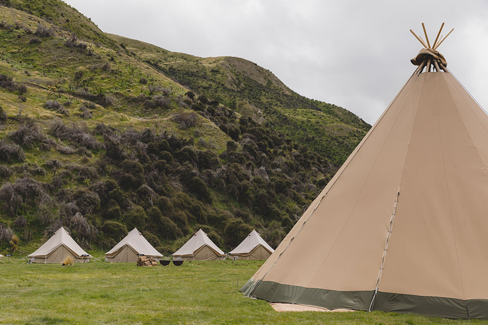 corporate tipi event camp